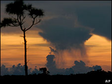 Rain cloud over the Everglades