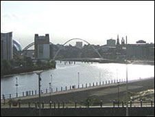 View of the Tyne from the Free Trade Inn's beer garden