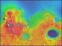 Mapa global de Marte (Fuente: NASA)