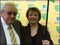 Michael Wynn-Jones and Delia Smith