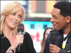 Hancock co-stars Charlize Theron and Will Smith