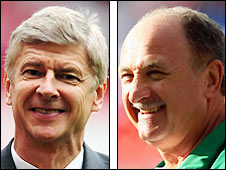 Arsene Wenger (left) and Luiz Felipe Scolari