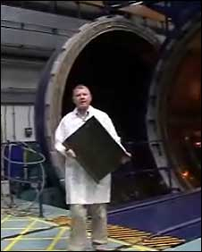 Dave Phipps head of Airbus' carbon fibre research department at Filton