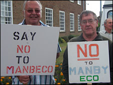 Eco town protesters