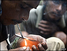Drug user in Mumbai, June 2008
