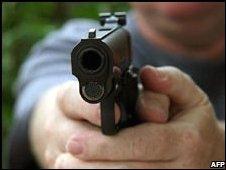 A Colt .45 semi-automatic pistol (file image)