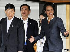 G8 ministers at Kyoto State Guest House, Japan