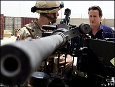 David Cameron and UK soldier
