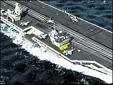 Future UK aircraft carrier