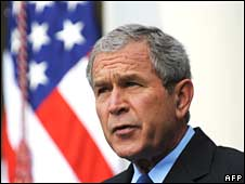 George W Bush at the White House, file pic from June 2008