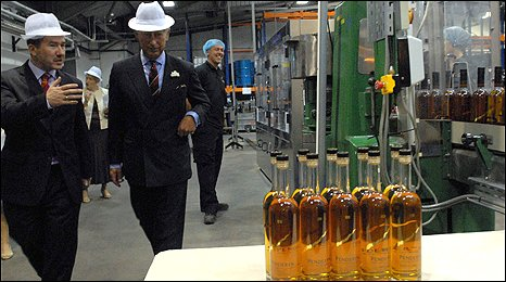 Prince Charles at the distillery