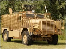 Ridgback armoured vehicle