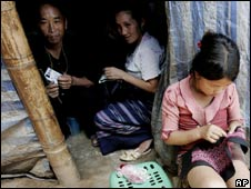 Hmong refugees at the Huay Nam Khao refugee camp in Thailand's Petchabun province