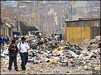 Zona pobre de Lima.