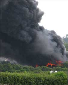 Pylle fire: pic Roger Hyman