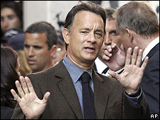 Tom Hanks on location in Rome