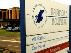 Raigmore Hospital car park sign