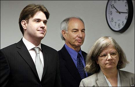 Neil Entwistle with his lawyers Elliot Weinstein and Stephanie Page.