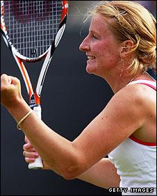 Alla Kudryavtseva celebrates her victory