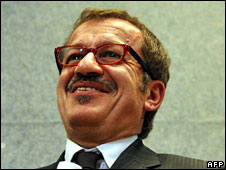 Italian Interior Minister Roberto Maroni, file pic from June 2008