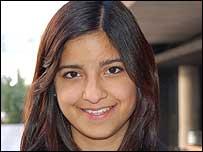 Mariana V�squez, 19 a�os, estudiante de medicina de la Universidad Cat�lica