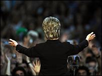 هيلاري تدعو أنصارها لانتخاب أوباما 7-06-2008