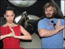 Jack Black and Lucy Liu