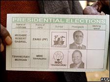 The voting slip