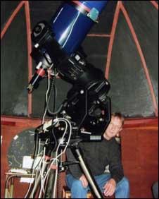 John Fletcher in the Tuffley Observatory