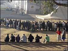 A queue in Mbare, Harare
