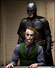 Heath Ledger and Christian Bale