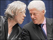 Sir Bob Geldof and Bill Clinton