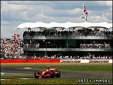 Kimi Raikkonen's Ferrari at Silverstone last year