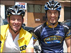 Lance Armstrong and Mark Webber