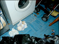 The toddler was found surrounded by rubbish  (Photo from PA/Lincolnshire Police)