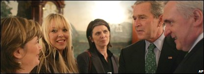 McCartney sisters and partner meet George Bush and Bertie Ahern