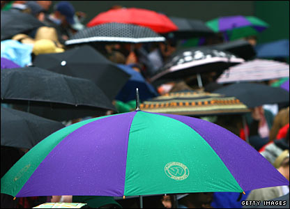 Umbrellas at Wimbledon
