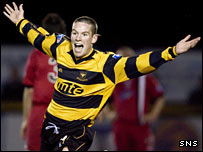 Striker Adam Coakley in action for former club Alloa