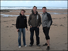 The team on Bude beach (BBC)
