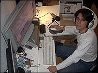 Jos� Ignacio Penagos en su empresa Infocus