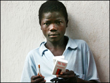 James: child in Africa with cigarettes