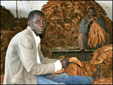 African men with tobacco