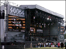 The stage in Hyde Park