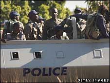 Police in Harare