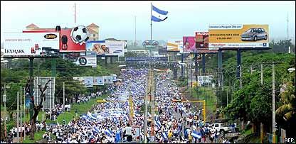 Manifestación antigubernamental en Managua