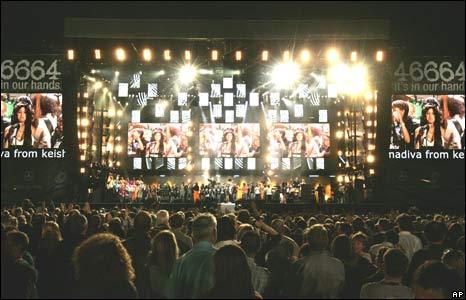 Finale of Nelson Mandela birthday concert