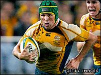 Australia tryscorer Matt Giteau
