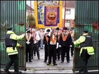 The Parades Commission had ruled only 50 marchers be allowed to walk through