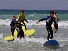 Children surfing. Picture: Chernobyl Children Life Line