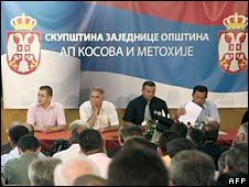 The inaugural session of the assembly in Mitrovica